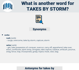 takes by storm, synonym takes by storm, another word for takes by storm, words like takes by storm, thesaurus takes by storm