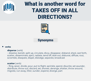 takes off in all directions, synonym takes off in all directions, another word for takes off in all directions, words like takes off in all directions, thesaurus takes off in all directions
