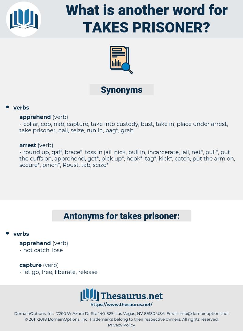 takes prisoner, synonym takes prisoner, another word for takes prisoner, words like takes prisoner, thesaurus takes prisoner