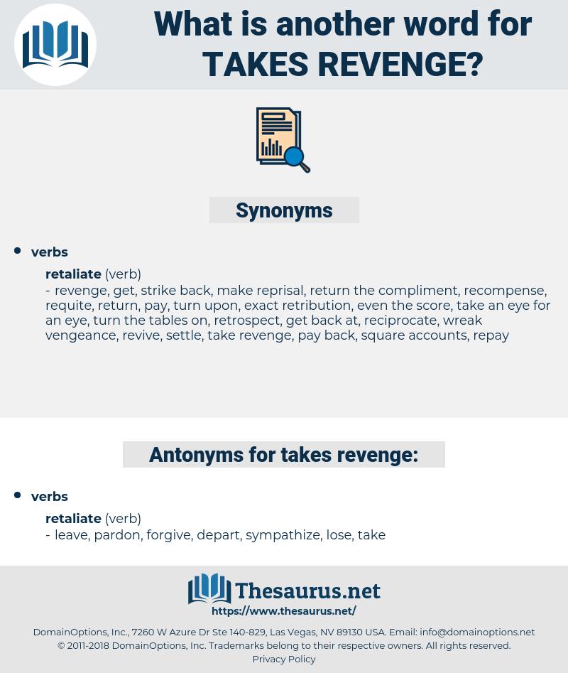 takes revenge, synonym takes revenge, another word for takes revenge, words like takes revenge, thesaurus takes revenge