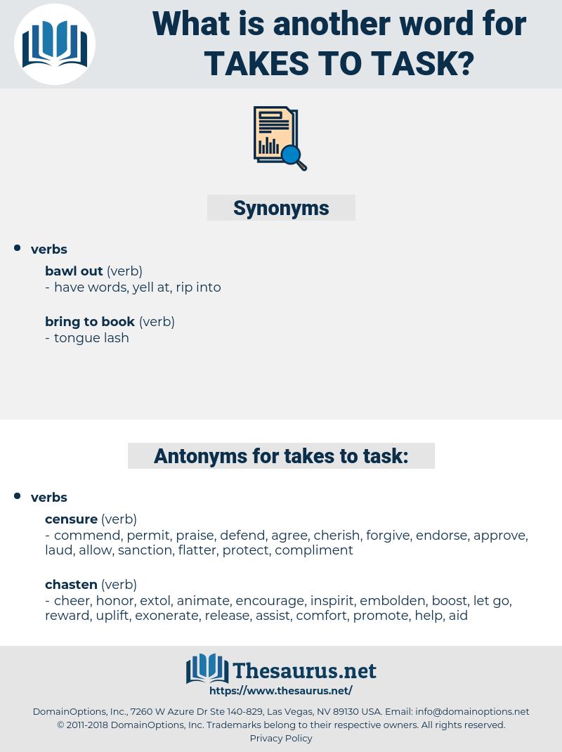 takes to task, synonym takes to task, another word for takes to task, words like takes to task, thesaurus takes to task