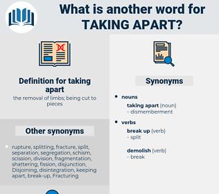 taking apart, synonym taking apart, another word for taking apart, words like taking apart, thesaurus taking apart