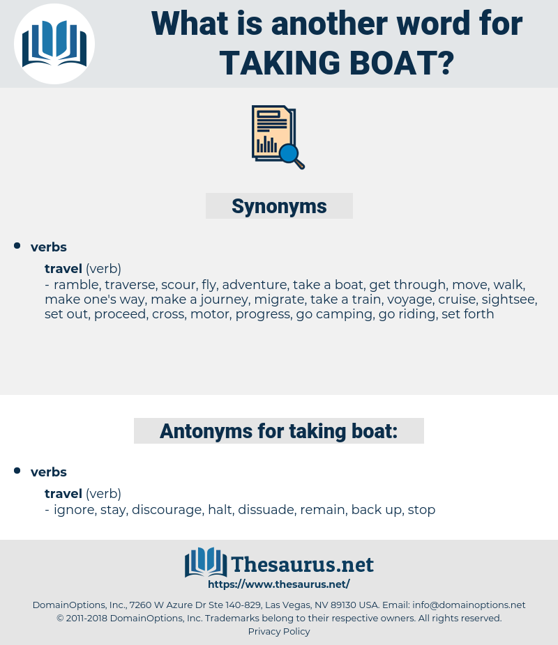 taking boat, synonym taking boat, another word for taking boat, words like taking boat, thesaurus taking boat