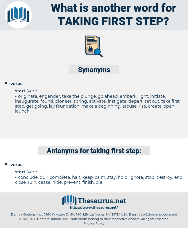 taking first step, synonym taking first step, another word for taking first step, words like taking first step, thesaurus taking first step