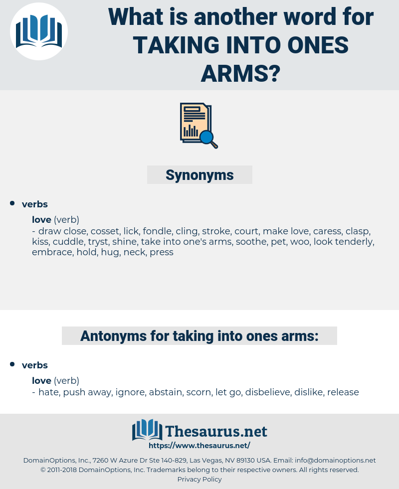 taking into ones arms, synonym taking into ones arms, another word for taking into ones arms, words like taking into ones arms, thesaurus taking into ones arms