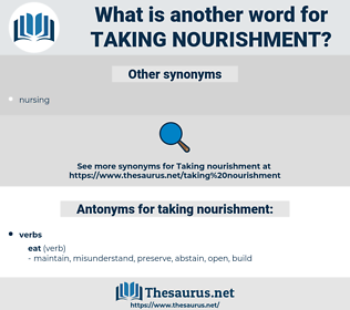 taking nourishment, synonym taking nourishment, another word for taking nourishment, words like taking nourishment, thesaurus taking nourishment