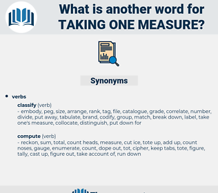 taking one measure, synonym taking one measure, another word for taking one measure, words like taking one measure, thesaurus taking one measure