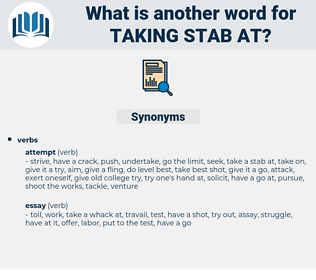 taking stab at, synonym taking stab at, another word for taking stab at, words like taking stab at, thesaurus taking stab at