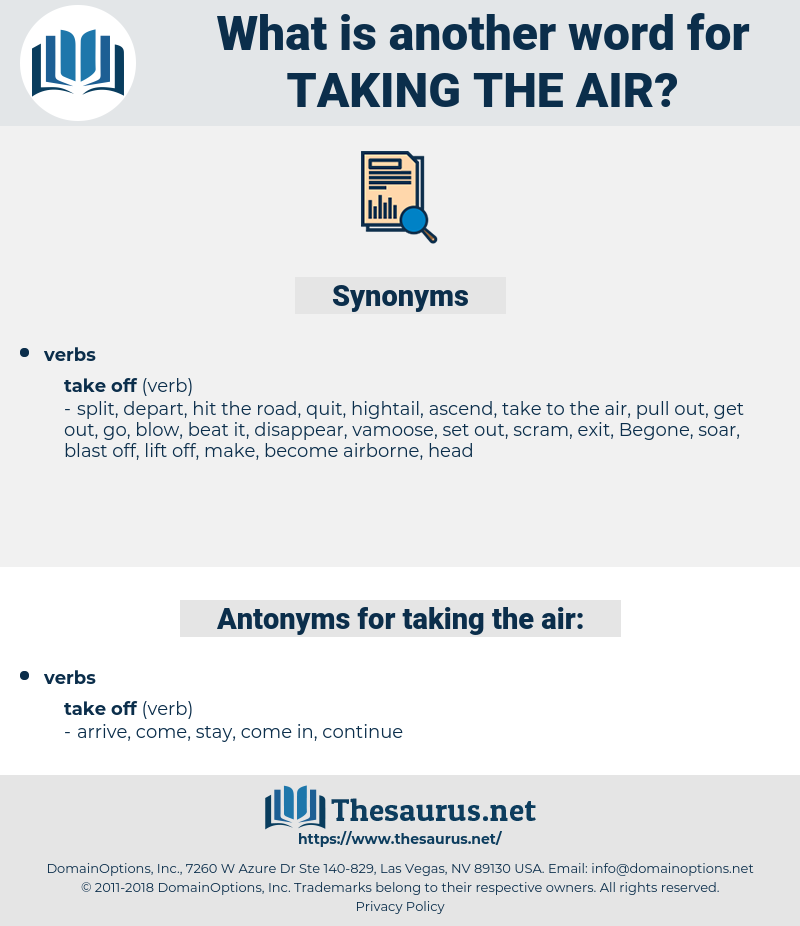 taking the air, synonym taking the air, another word for taking the air, words like taking the air, thesaurus taking the air