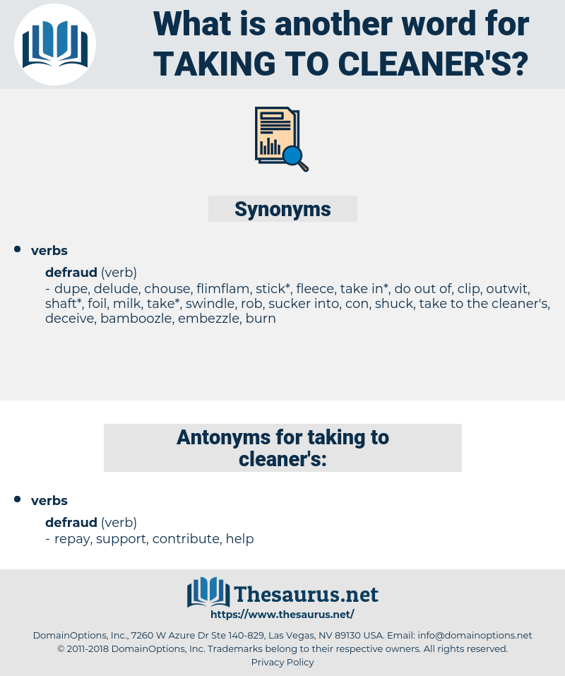 taking to cleaner's, synonym taking to cleaner's, another word for taking to cleaner's, words like taking to cleaner's, thesaurus taking to cleaner's