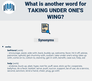 taking under one's wing, synonym taking under one's wing, another word for taking under one's wing, words like taking under one's wing, thesaurus taking under one's wing