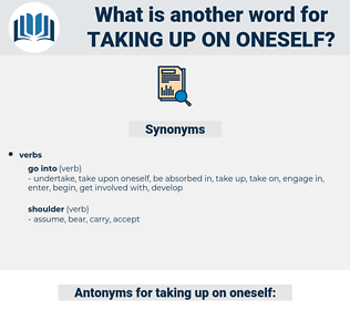 taking up on oneself, synonym taking up on oneself, another word for taking up on oneself, words like taking up on oneself, thesaurus taking up on oneself