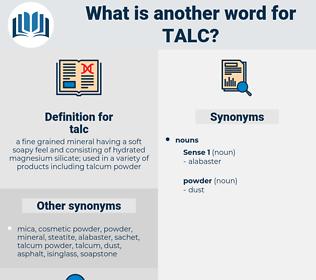 talc, synonym talc, another word for talc, words like talc, thesaurus talc