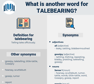 talebearing, synonym talebearing, another word for talebearing, words like talebearing, thesaurus talebearing