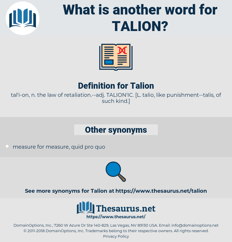Talion, synonym Talion, another word for Talion, words like Talion, thesaurus Talion