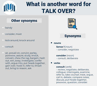 talk over, synonym talk over, another word for talk over, words like talk over, thesaurus talk over
