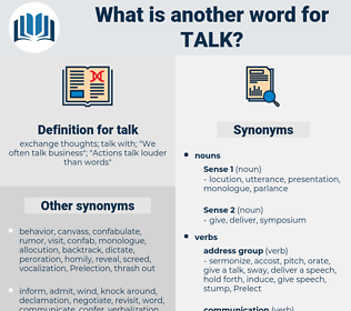talk, synonym talk, another word for talk, words like talk, thesaurus talk