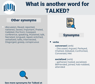 Talked, synonym Talked, another word for Talked, words like Talked, thesaurus Talked