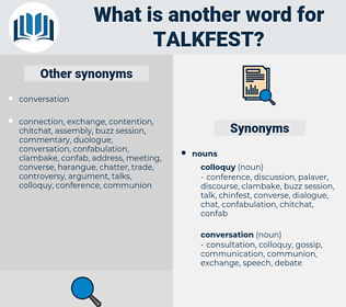 talkfest, synonym talkfest, another word for talkfest, words like talkfest, thesaurus talkfest