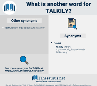 talkily, synonym talkily, another word for talkily, words like talkily, thesaurus talkily