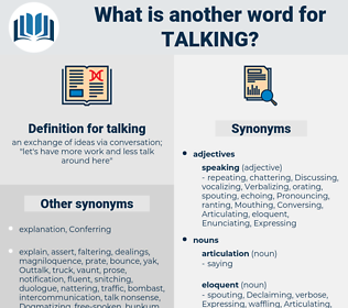 talking, synonym talking, another word for talking, words like talking, thesaurus talking