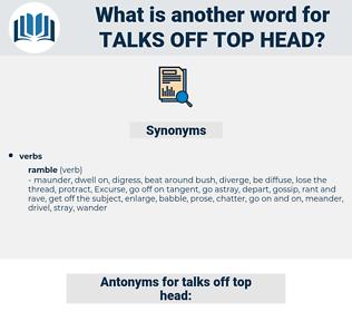 talks off top head, synonym talks off top head, another word for talks off top head, words like talks off top head, thesaurus talks off top head