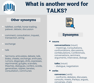 talks, synonym talks, another word for talks, words like talks, thesaurus talks