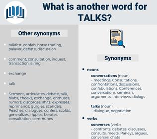 talks, synonym talks, another word for talks, words like talks, thesaurus talks