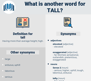 tall, synonym tall, another word for tall, words like tall, thesaurus tall