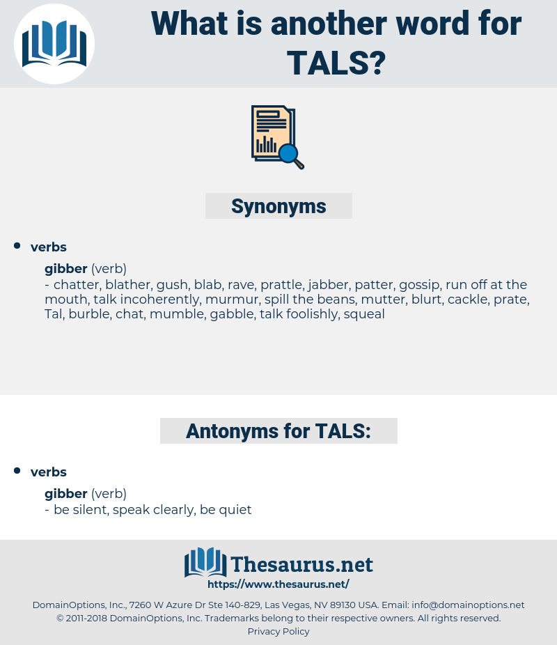 TALS, synonym TALS, another word for TALS, words like TALS, thesaurus TALS