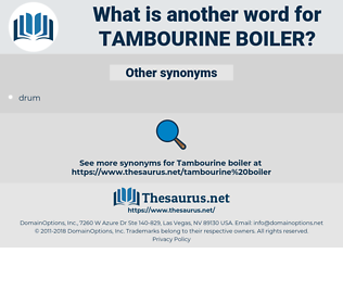 tambourine boiler, synonym tambourine boiler, another word for tambourine boiler, words like tambourine boiler, thesaurus tambourine boiler