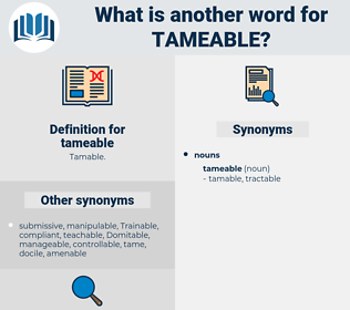 tameable, synonym tameable, another word for tameable, words like tameable, thesaurus tameable