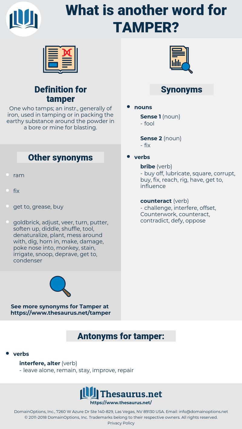 tamper, synonym tamper, another word for tamper, words like tamper, thesaurus tamper