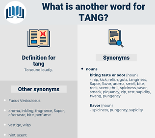 tang, synonym tang, another word for tang, words like tang, thesaurus tang
