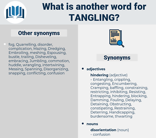 Tangling, synonym Tangling, another word for Tangling, words like Tangling, thesaurus Tangling
