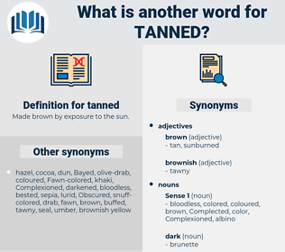 tanned, synonym tanned, another word for tanned, words like tanned, thesaurus tanned