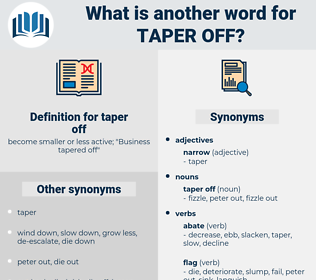 taper off, synonym taper off, another word for taper off, words like taper off, thesaurus taper off