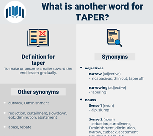 taper, synonym taper, another word for taper, words like taper, thesaurus taper
