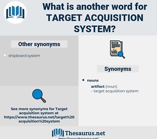 target acquisition system, synonym target acquisition system, another word for target acquisition system, words like target acquisition system, thesaurus target acquisition system