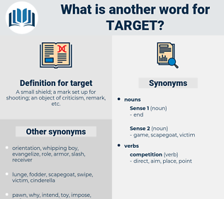 target, synonym target, another word for target, words like target, thesaurus target