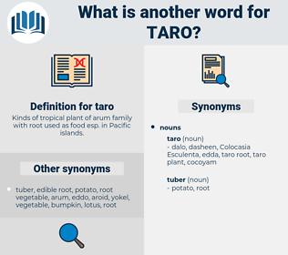 taro, synonym taro, another word for taro, words like taro, thesaurus taro