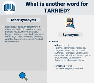 Tarried, synonym Tarried, another word for Tarried, words like Tarried, thesaurus Tarried