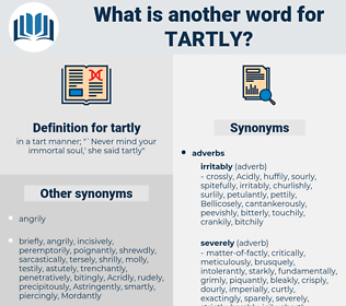 tartly, synonym tartly, another word for tartly, words like tartly, thesaurus tartly