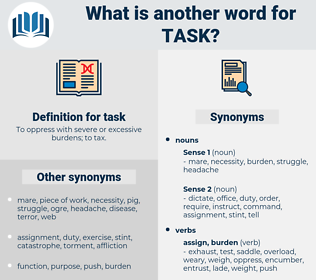 task, synonym task, another word for task, words like task, thesaurus task