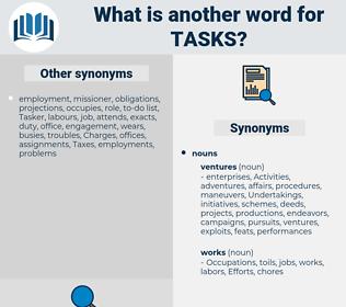 tasks, synonym tasks, another word for tasks, words like tasks, thesaurus tasks