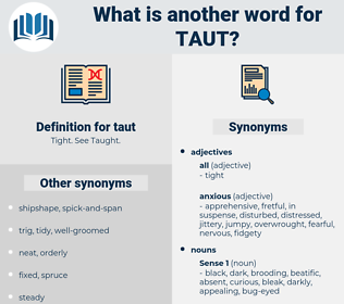 taut, synonym taut, another word for taut, words like taut, thesaurus taut