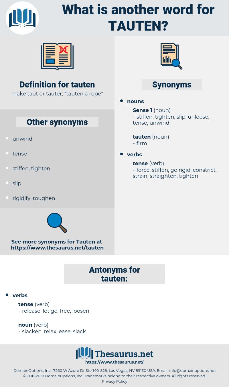 tauten, synonym tauten, another word for tauten, words like tauten, thesaurus tauten