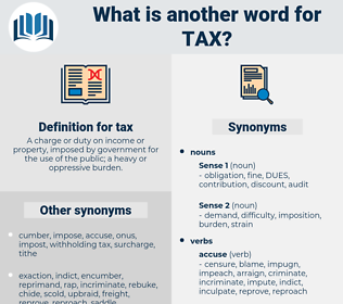 tax, synonym tax, another word for tax, words like tax, thesaurus tax