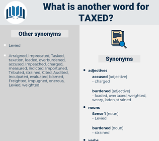 Taxed, synonym Taxed, another word for Taxed, words like Taxed, thesaurus Taxed