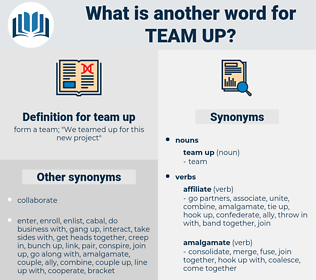 team up, synonym team up, another word for team up, words like team up, thesaurus team up